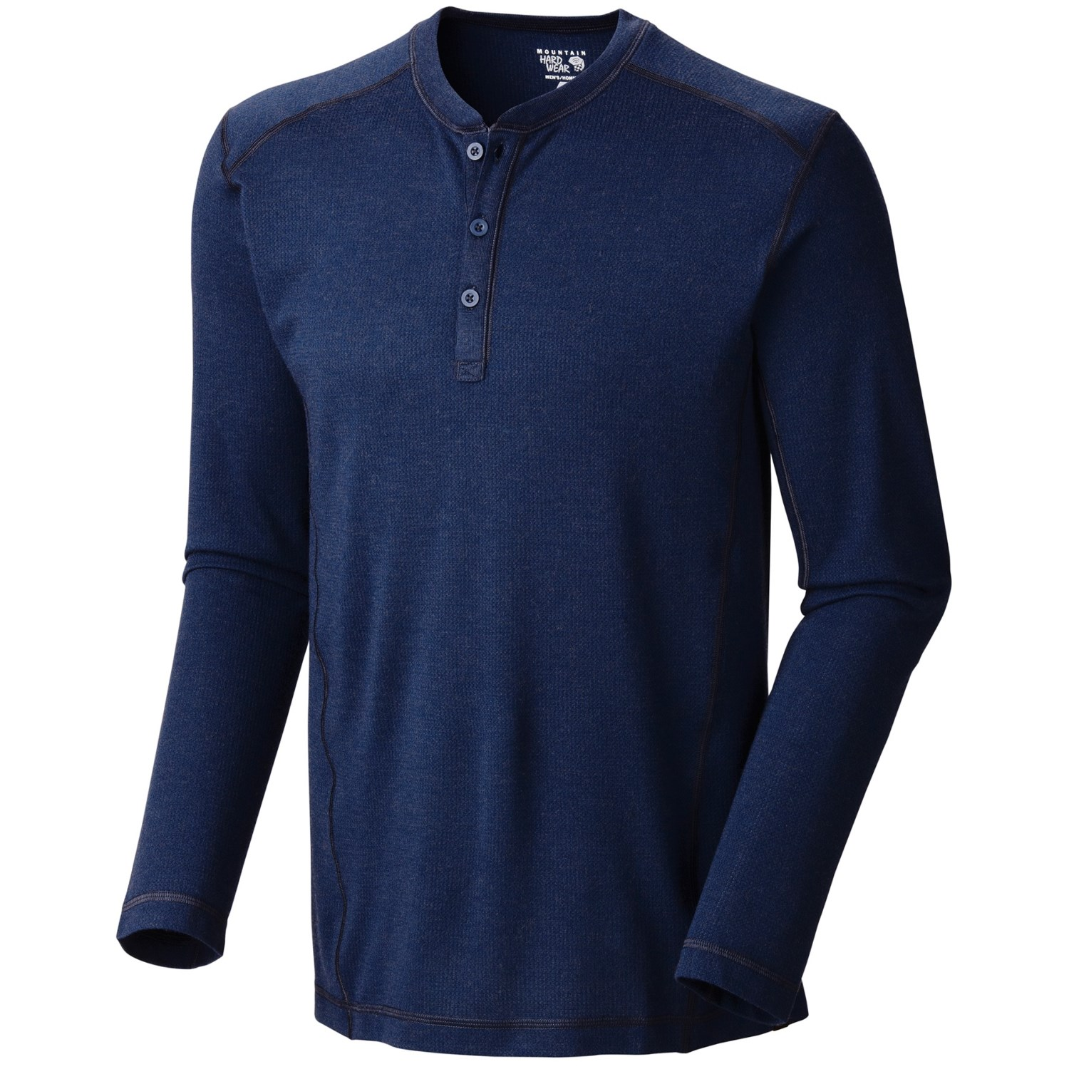 Men's thermal shirts made with a cotton/poly blend are lightweight but warm and easy to care for. Choose a pull-on style in a solid color and wear it under a plaid flannel shirt or go with a classic stripped pattern and layer it under a solid color button shirt.