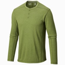 Mountain Hardwear Trekkin Thermal Henley Shirt - UPF 15, Long Sleeve (For Men) in Amphibian - Closeouts