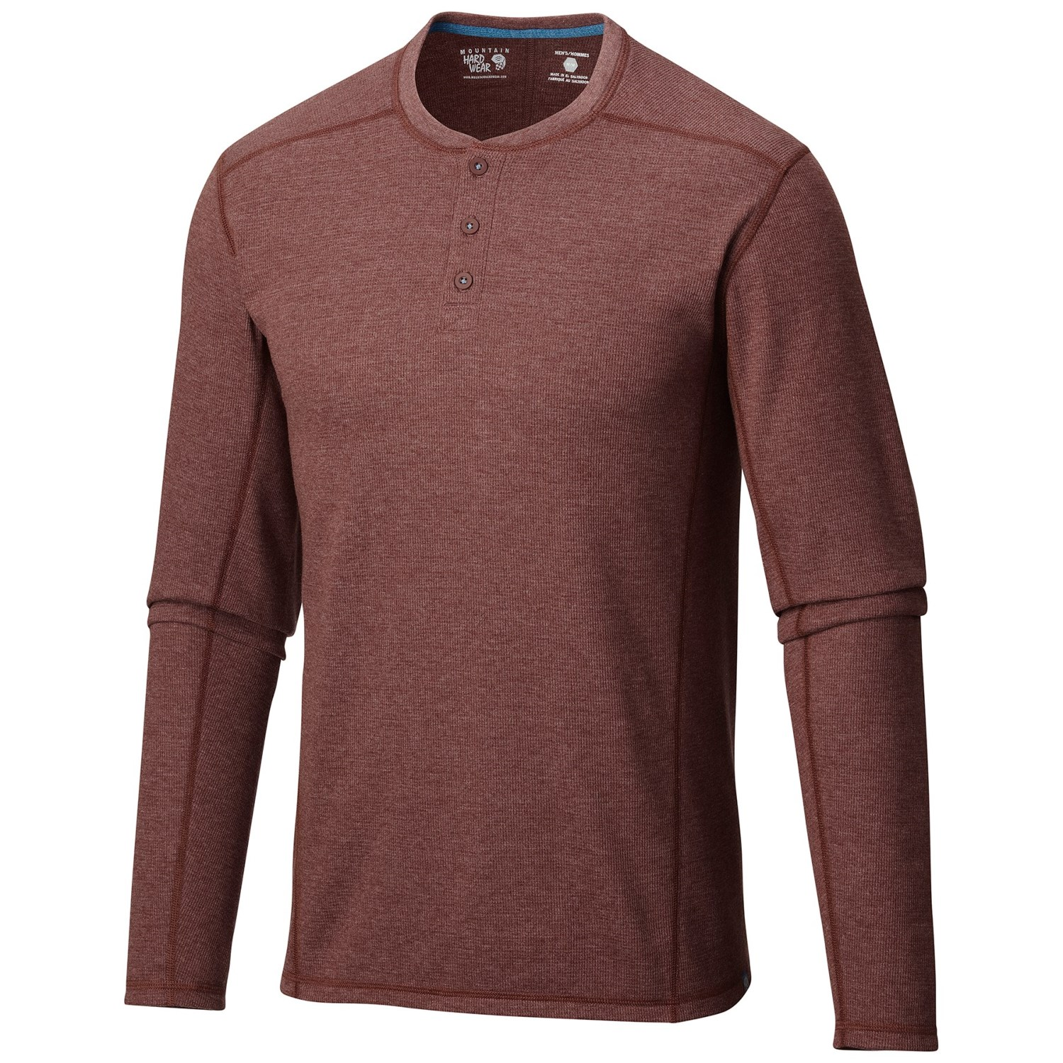 Mountain hardwear trekkin thermal henley shirt for men for Men s thermal henley long sleeve shirts