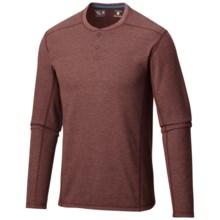 Mountain Hardwear Trekkin Thermal Henley Shirt - UPF 15, Long Sleeve (For Men) in Redwood - Closeouts
