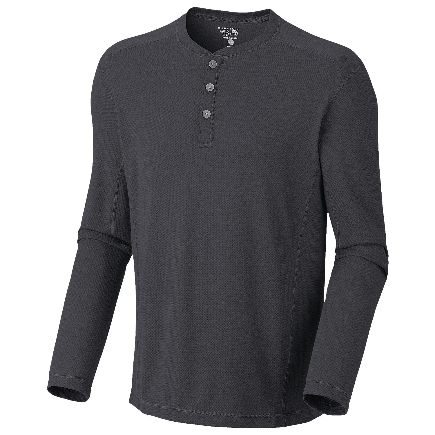 Mountain hardwear trekkin thermal henley shirt upf 15 for Men s thermal henley long sleeve shirts