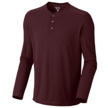 Mountain Hardwear Trekkin Thermal Henley Shirt - UPF 15, Long Sleeve (For Men) in Shiraz - Closeouts