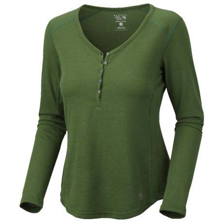 Mountain Hardwear Trekkin Thermal Henley Shirt - UPF 15, Long Sleeve (For Women) in Jungle