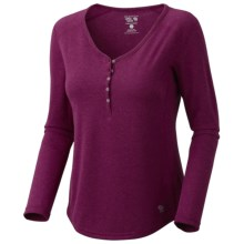 Mountain Hardwear Trekkin Thermal Henley Shirt - UPF 15, Long Sleeve (For Women) in Red Onion - Closeouts