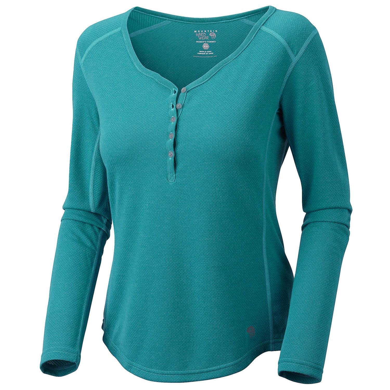 Mountain hardwear trekkin thermal henley shirt upf 15 for Thermal shirt for women
