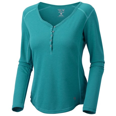 Mountain Hardwear Trekkin Thermal Henley Shirt - UPF 15, Long Sleeve (For Women) in Wink