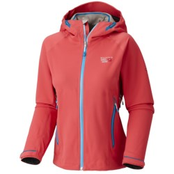 Mountain Hardwear Trinity Dry.Q Core  Soft Shell Jacket - Waterproof (For Women) in Red Hibiscus