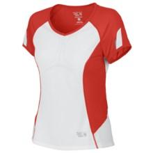 Mountain Hardwear Way2Cool Shirt - Short Sleeve (For Women) in Poppy Red - Closeouts
