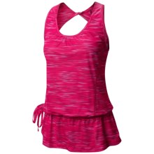 Mountain Hardwear Wicked Electric Tunic Tank Top - UPF 15, Twist Back (For Women) in Dark Raspberry - Closeouts