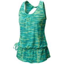 Mountain Hardwear Wicked Electric Tunic Tank Top - UPF 15, Twist Back (For Women) in Fission - Closeouts