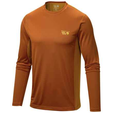 Mountain Hardwear Wicked Lite T-Shirt - UPF 15, Long Sleeve (For Men) in Bright Copper - Closeouts
