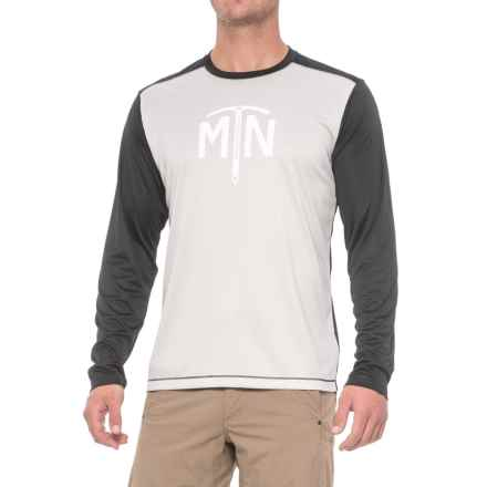 Mountain Hardwear Wicked Logo T-Shirt - UPF 25, Long Sleeve (For Men) in Grey Ice - Closeouts