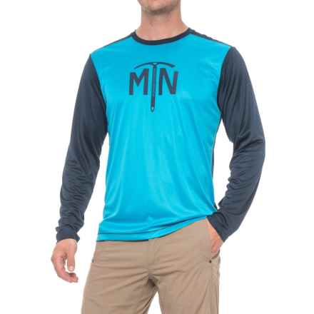 Mountain Hardwear Wicked Logo T-Shirt - UPF 25, Long Sleeve (For Men) in Ocean Blue - Closeouts