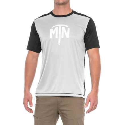 Mountain Hardwear Wicked Logo T-Shirt - UPF 25, Short Sleeve (For Men) in Grey Ice - Closeouts