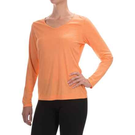 Mountain Hardwear Wicked Printed T-Shirt - Long Sleeve (For Women) in Heather Faded Orange - Closeouts