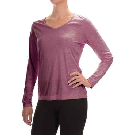 Mountain Hardwear Wicked Printed T-Shirt - Long Sleeve (For Women) in Heather Marionberry - Closeouts