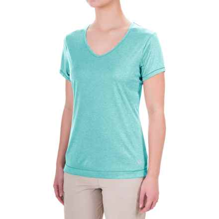 Mountain Hardwear Wicked Printed T-Shirt - Short Sleeve (For Women) in Heather Spruce Blue - Closeouts