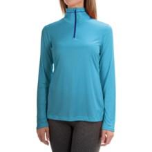 Mountain Hardwear Wicked Shirt - Zip Neck, Long Sleeve (For Women) in Atoll - Closeouts