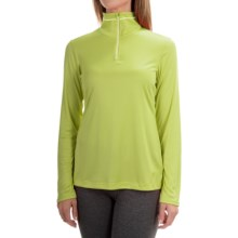 Mountain Hardwear Wicked Shirt - Zip Neck, Long Sleeve (For Women) in Bolt - Closeouts