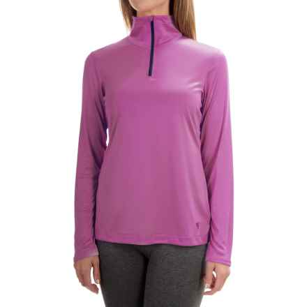 Mountain Hardwear Wicked Shirt - Zip Neck, Long Sleeve (For Women) in Foxglove - Closeouts