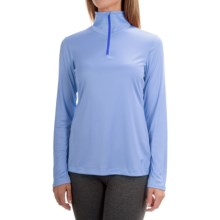 Mountain Hardwear Wicked Shirt - Zip Neck, Long Sleeve (For Women) in Frosted Blue - Closeouts