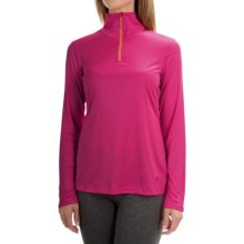 Mountain Hardwear Wicked Shirt - Zip Neck, Long Sleeve (For Women) in Haute Pink/Faded Orange - Closeouts
