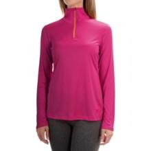 Mountain Hardwear Wicked Shirt - Zip Neck, Long Sleeve (For Women) in Haute Pink/Faded Orange - Closeouts