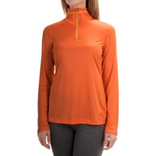 Mountain Hardwear Wicked Shirt - Zip Neck, Long Sleeve (For Women) in Navel Orange - Closeouts