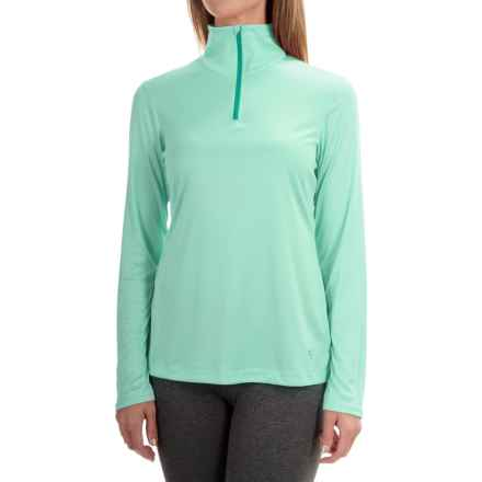 Mountain Hardwear Wicked Shirt - Zip Neck, Long Sleeve (For Women) in Sea Ice - Closeouts