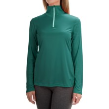 Mountain Hardwear Wicked Shirt - Zip Neck, Long Sleeve (For Women) in Teal Green - Closeouts