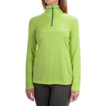 Mountain Hardwear Wicked Shirt - Zip Neck, Long Sleeve (For Women) in Tippet - Closeouts