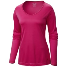 Mountain Hardwear Wicked T-Shirt - Long Sleeve (For Women) in Bright Rose - Closeouts