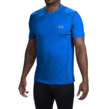 Mountain Hardwear Wicked T-Shirt - Short Sleeve (For Men) in Hyper Blue/Black - Closeouts