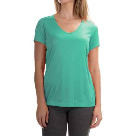 Mountain Hardwear Wicked T-Shirt - Short Sleeve (For Women) in Glacier Green - Closeouts