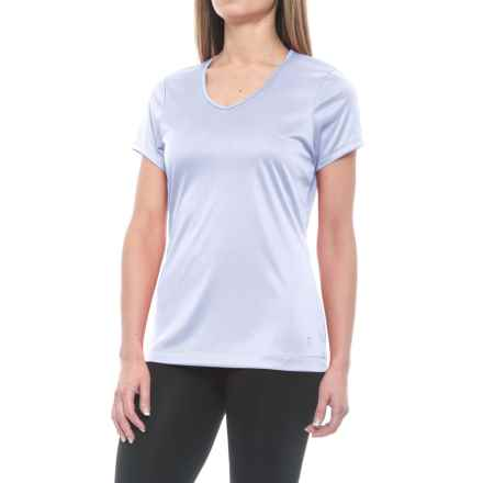 Mountain Hardwear Wicked T-Shirt - UPF 25, V-Neck, Short Sleeve (For Women) in Atmosfear - Closeouts