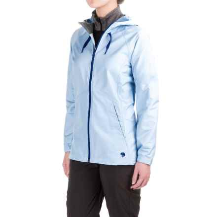 Mountain Hardwear Wind Activa Hooded Jacket (For Women) in Bright Island Blue - Closeouts