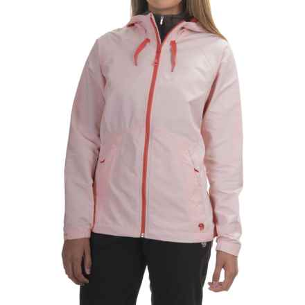 Mountain Hardwear Wind Activa Hooded Jacket (For Women) in Coralescent - Closeouts