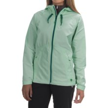 Mountain Hardwear Wind Activa Hooded Jacket (For Women) in Glacier Green - Closeouts