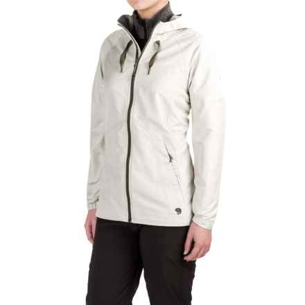 Mountain Hardwear Wind Activa Hooded Jacket (For Women) in Stone Green - Closeouts