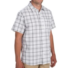 Mountain Hardwear Yuba Pass Plaid Shirt - Short Sleeve (For Men) in 100 White - Closeouts