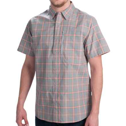 Mountain Hardwear Yuba Pass Plaid Shirt - Short Sleeve (For Men) in 293 Steam - Closeouts