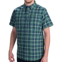 Mountain Hardwear Yuba Pass Plaid Shirt - Short Sleeve (For Men) in 492 Zinc - Closeouts