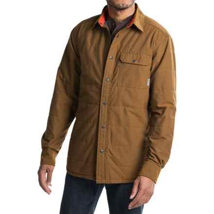 Mountain Hardwear Yuba Pass Shacket - Fleece Lined (For Men) in Golden Brown - Closeouts