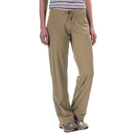 Mountain Hardwear Yumalina Pants - Microfleece Lining, UPF 50 (For Women) in Khaki/Gossamer Blue - Closeouts