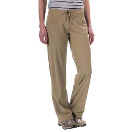 Mountain Hardwear Yumalina Pants - Microfleece Lining, UPF 50 (For Women) in Khaki/Gossamer Blue - Closeouts
