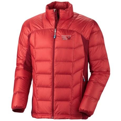 Mountain Hardwear Zonal Down Jacket (For Men) in Cherry Bomb/Red Velvet