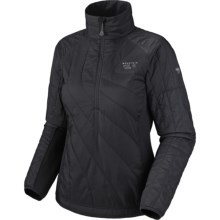 Mountain Hardwear Zonal Pullover Jacket - Insulated (For Women) in Black/Black - Closeouts