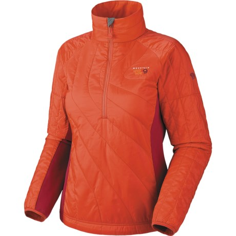Mountain Hardwear Zonal Pullover Jacket - Insulated (For Women) in Oasis Blue/Jewel