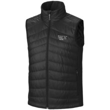 Mountain Hardwear Zonal Vest - Insulated (For Men) in Black/Black - Closeouts