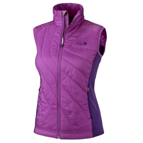 Mountain Hardwear Zonal Vest - Insulated (For Women) in Dewberry/Iris Glow